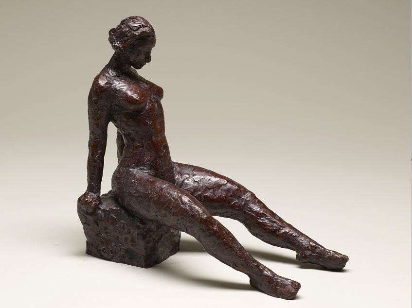 L'ingénue, 28 x 14 x 27 cm, bronze, 1999. Nathalie Garidou