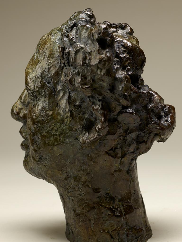 Portrait d'Electra, 24x16x15cm, bronze, 1998. Nathalie Garidou